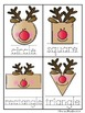 Reindeer Shapes Write / Stamp the Room Activity Pack