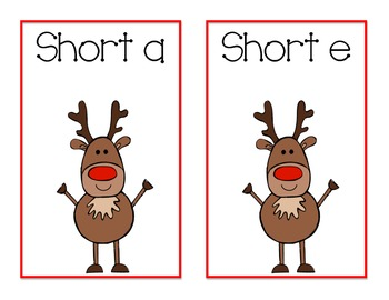 Reindeer Short Vowel Review