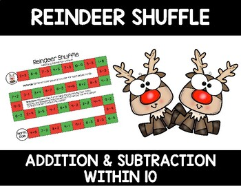 Reindeer Shuffle (Adding & Subtracting within 10)