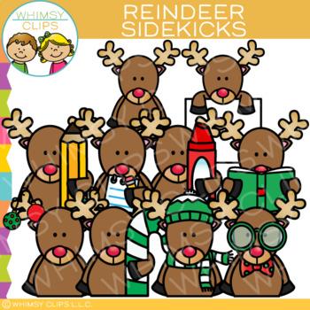 Sidekicks Reindeer Clip Art