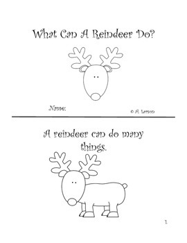 Reindeer Sight Word Book