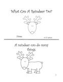 Reindeer Sight Word Book