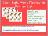 Reindeer Sight Word Flashcards - Dolch First Grade List