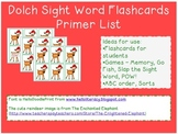 Reindeer Sight Word Flashcards - Dolch Primer List