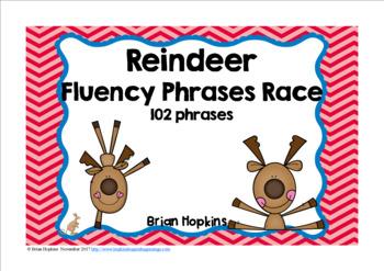 Reindeer Sight Word Fluency Phrases Race