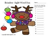 Reindeer Sight Word Fun