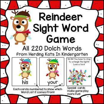 Reindeer Sight Word Game