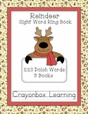 Reindeer Sight Word Ring Books (5) - 220 Dolch Words