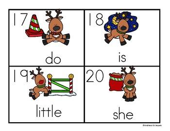 Reindeer Sight Word Write the Room Wonders Sight Words