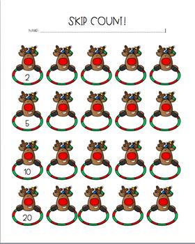 Reindeer Skip Count
