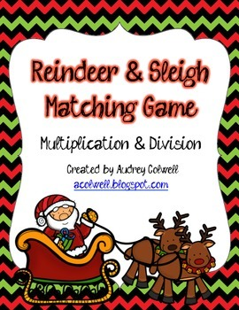 Reindeer & Sleigh Multiplication & Division Game