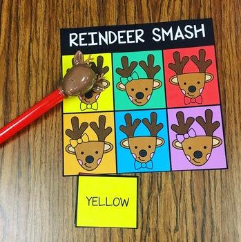 Reindeer Smash Color Identification Preschool Prek Homeschool TK Kinder