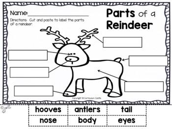 Reindeer Holiday Activities FREEBIE!