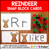 Reindeer Snap Block Cards - Letters, Numbers, and Sight Words