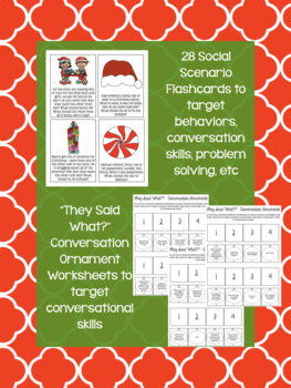 Reindeer Social Scenario Sort/Pragmatic Activity