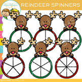 Spinners with Reindeer Clip Art