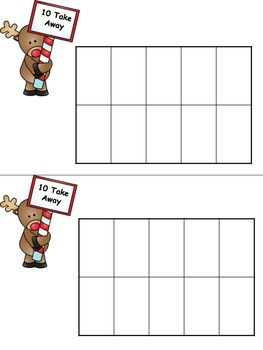 Reindeer Subtracting from 10: A Common Core Subtraction Game