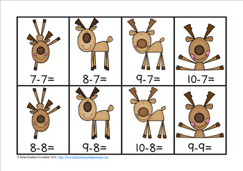 Reindeer Subtraction Race