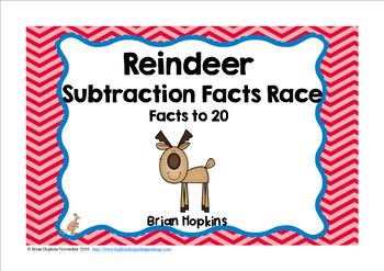 Reindeer Subtraction Race