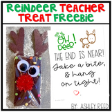 Reindeer Teacher Treat Tag - a FREEBIE