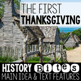The First Thanksgiving: Teaching Main Idea and Text Features
