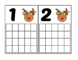 Reindeer Ten Frame Activity (Numbers 1-20)