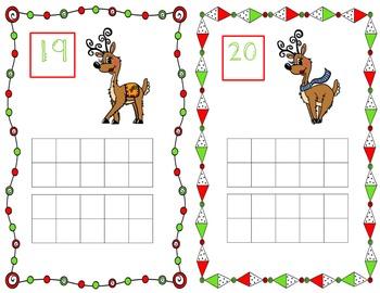 Reindeer Ten Frames 1-20