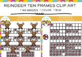 Ten Frames Reindeer Clip Art
