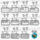Reindeer Ten Frames Clip Art