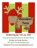 Reindeer Tens Ordering Numbers and Skip Counting By 10's
