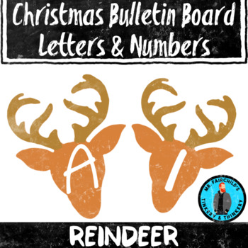 Reindeer Theme Bulletin Board Letters/Numbers Holiday Theme Clip Art