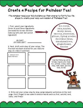 Reindeer Themed Math and Language Arts Activities