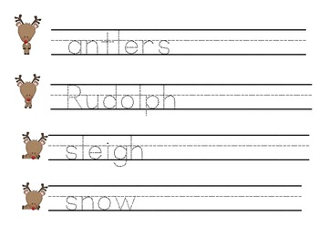 Reindeer Themed Math and Literacy Centers for Pre-K to K