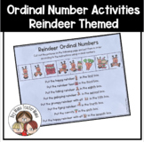 Reindeer Themed Ordinal Number Activities