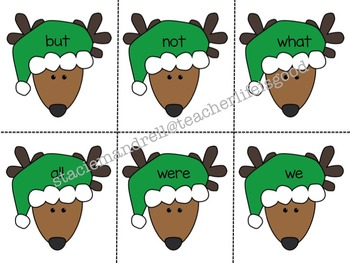 Reindeer Themed Sight Words
