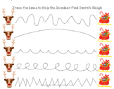 Christmas Reindeer Tracing, Christmas Preschool, Music and