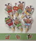 Reindeer Train Game, holiday math center