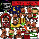 Reindeer Clipart- Reindeer Training {Creative Clips Clipart}