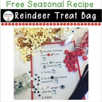 Reindeer Treat Bags-Visual Recipe Freebie!