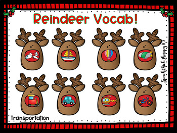 Reindeer Vocabulary Mats for Speech Therapy