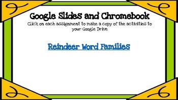Reindeer Word Families-A Digital Literacy Center