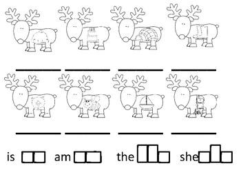 Reindeer Word Writing