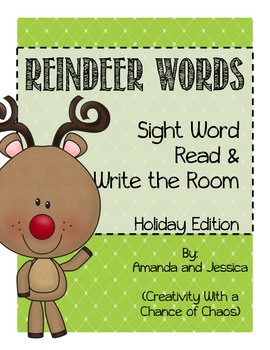 Read and Write the Room: Reindeer Words