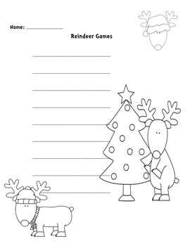 Reindeer Write Around the Room