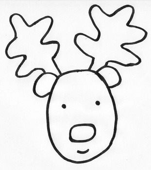 Reindeer Write the Room Winter/Christmas