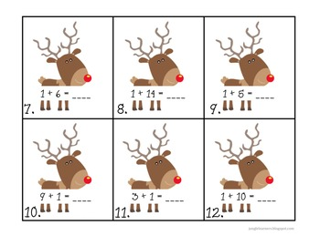 Write the Room: Reindeer Addition