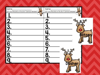 Reindeer Write the Room Freebie