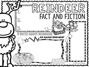 Reindeer Writing Activity Doodle Poster