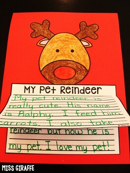 Reindeer Craft Writing Activity