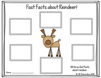 Reindeer Writing Flap Books!